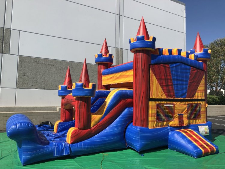 Deluxe Bounce Castle / (Optional)Water Slide Marble Rainbow