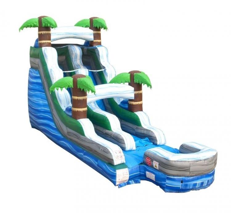 15 Foot Tropical Marbled Water Slide