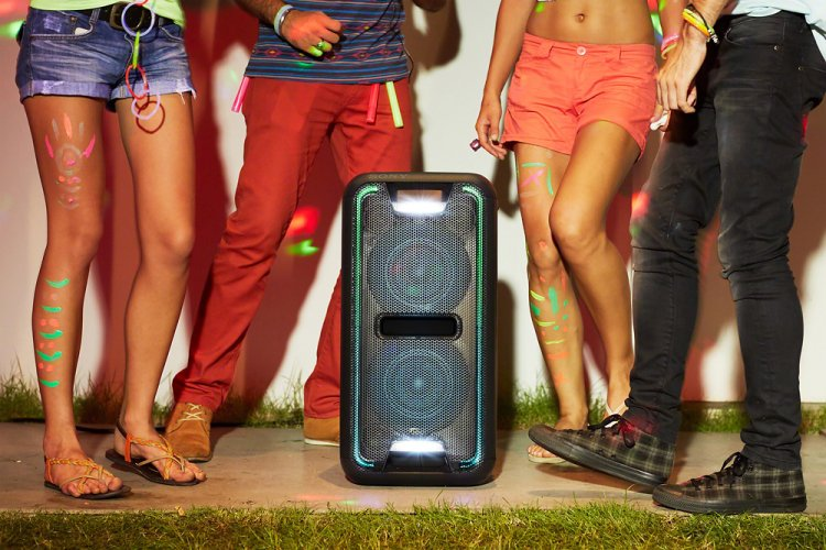 Large Bluetooth Party Speaker with LED Effects